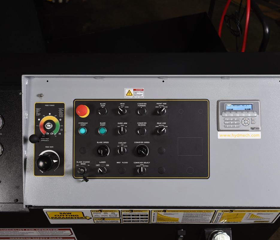S-20 Horizontal Pivot Band Saw Angle Measurement
