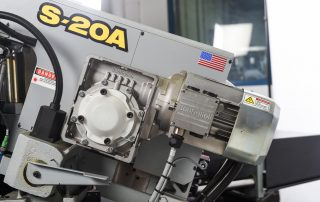 S-20A features a 5 HP variable frequency drive with no belts or pulleys
