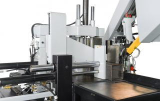 S-20A features hydraulic positive downfeed for consistent cutting pressure