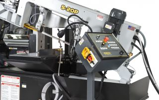 S-20P features swing away control panel for ideal operator positioning