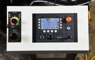 S-23A automatic touch screen PLC control is programmable up to 100 jobs with 20 in queue
