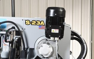 S-23A features a powereful 8.8 HP true direct blade drive with no belts or pulleys