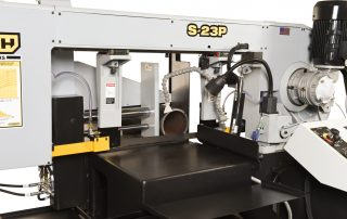S-23P features 20 inch outfeed table