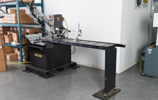 DM-10 optional K110 table allows for easy cutting of multiple lengths