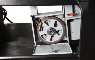 V-18 band wheel door open