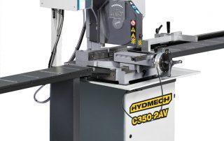 C350-2AV machine shot with K40 tables