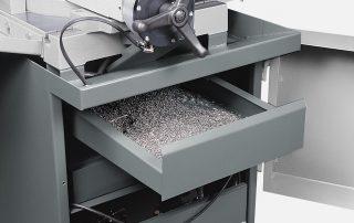 C350-2AV steel base with chip drawer