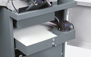 C350-2AV steel base with removable coolant tray