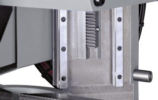 C350-2CNC sawing head movement on double linear rails