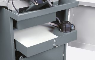 C350-2CNC steel base with removable coolant tray