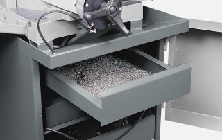 C350-2S steel base with chip drawer