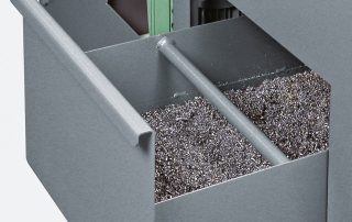 C370-2SI steel base with chip drawer