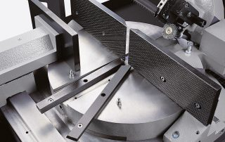 DM-12/15 rotating table assembled on a roller bearing diameter 420-mm pre-loaded with a thrust bearing complete with replaceable steel plates on the working table surface