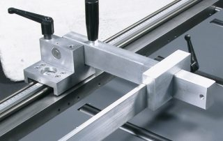 P350 optional R2 flip over material stop with ruler