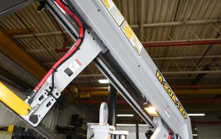 M-20A-120 hydraulically powered steel guide arms on linear rails